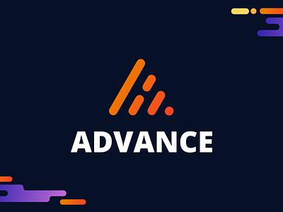 Advance Logo Option 2 identity brand line geomatic minimal advance a logo