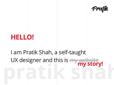 pratikshah.website - first look resume modern minimal red branding portfolio personal website