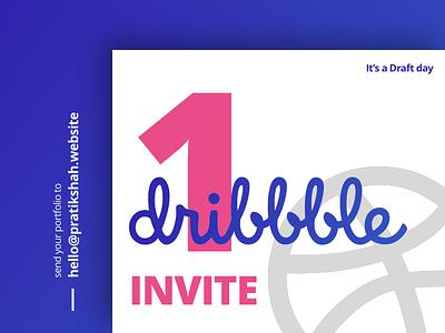 1 Dribbble Invite draft invitation player debute give away invite draft day