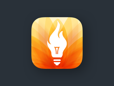 ignyt App Branding bulb idea fire ios app icon product logo ignyt logo iphone application icon ios logo design appstore product branding