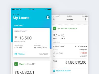 WIP - Home & Bill screen wip ios11 money loan receipt bill home finance ios
