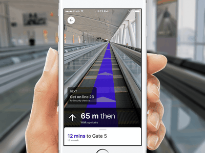Augmented Reality for indoor maps airport direction virtual experiment indoor map augmented reality