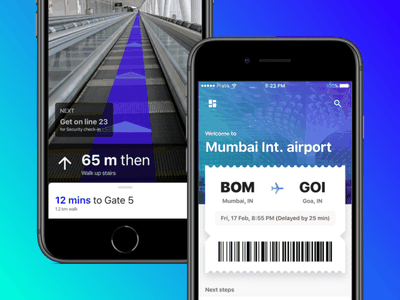AR to improve ✈️Airport experience iphone ticket airport virtual experiment indoor map augmented reality