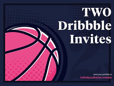 2 Dribbble Invites✌️ player typography poster retro basketball invites dribbble