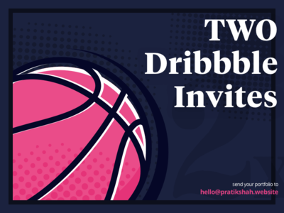 2 Dribbble Invites✌️ player typography poster retro basketball invites dribbble