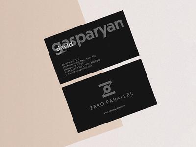 Zero Parallel card identity card logo zero parallel business card