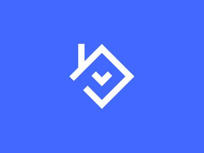 Property Force logo heart love house