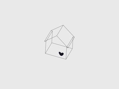 House of love logo heart love house