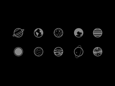 Planets Icons icons planets book space