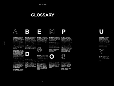Glossary space book