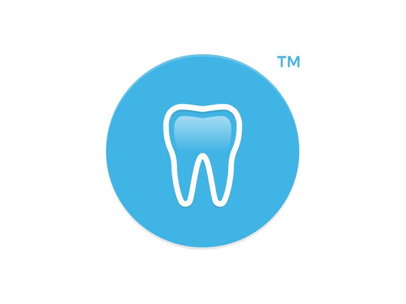 Tooth logo logo design icon development branding design lemot clean blue tooth dentist