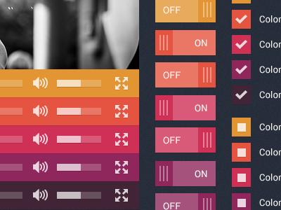 Flat user interface