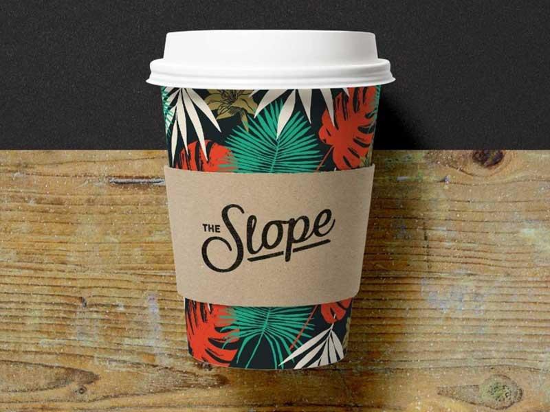 Slope Bar Coffee Cup Designs design coffee business type lettering surf restaurant bar branding logo