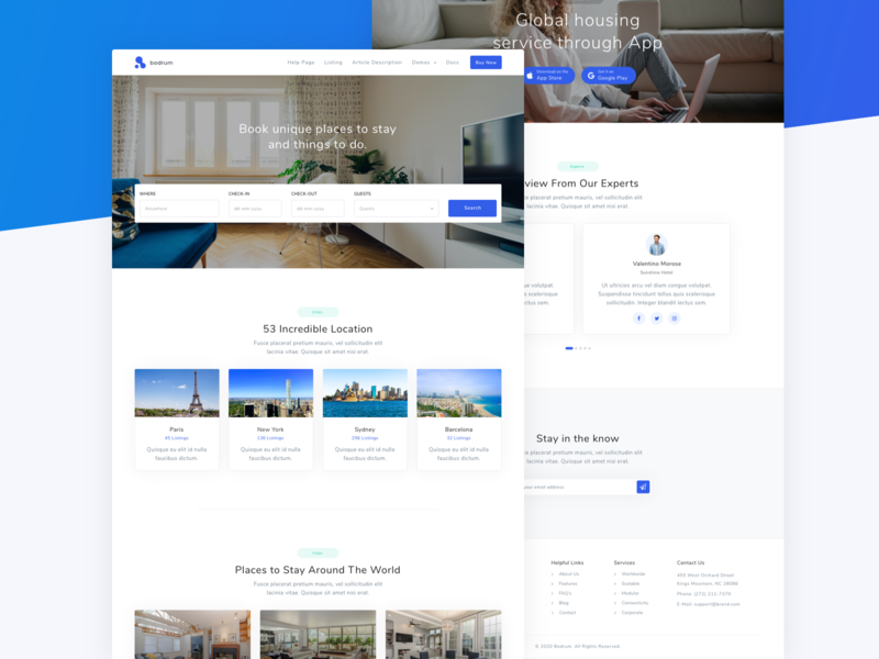 Bodrum - Modular Multi Purpose HTML5 Template marketing creative app portfolio software corporate landing themeforest hosting startup agency business