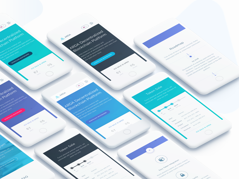 Arda - Cryptocurrency ICO HTML Template by tempload on Dribbble