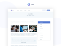 Enso - Agency, Startup, Software and SaaS Template
