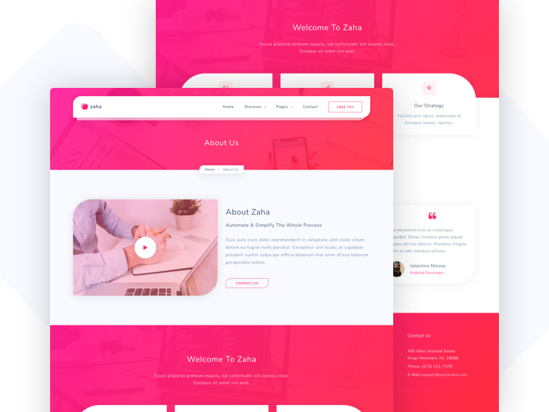 Zaha - Agency and SaaS HTML5 Template solutions creative app portfolio software corporate landing themeforest business startup agency network
