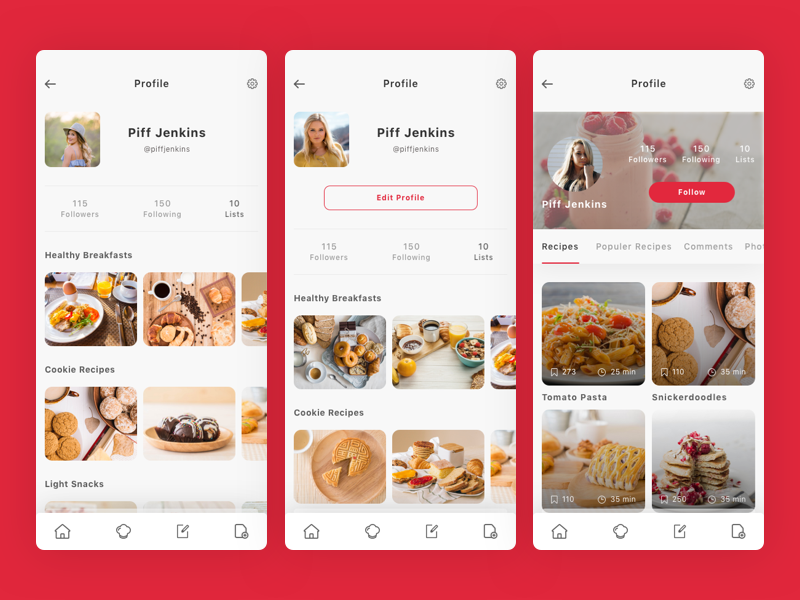 Roka - Recipes and Food Plan App UI Kit delicious recipe restaurant kitchen cooking chef app plan creative recipes food ui kit