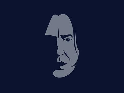 Farewell Professor. illustration vector character movies j.k. rowling harry potter alan rickman severus snape snape