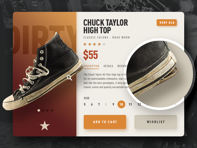 Clean sneakers are so boring shop sneakers converse product zoom nike shoes sports ux ui store e-commerce