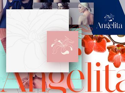 Logo design for Angelita  type identity fashion fashion brand brand logo design logo branding