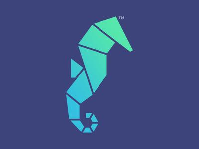 The Nerd Institute Logo facet polygon polygonal geometric identity logo design design branding brand logo