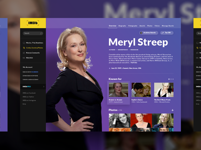 IMDb Page Concept redesign movies site website desktop concept design ui imdb