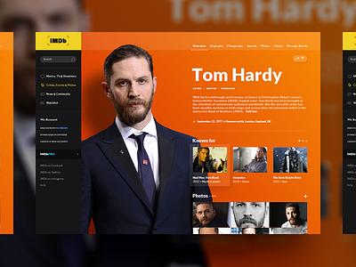 IMDb Page Concept tom hardy redesign movies site website desktop concept design ui imdb