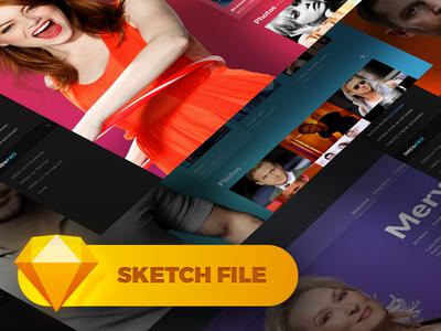 • Freebie • IMDb Concept Page — Free Sketch File download free sketch freebie redesign site website desktop concept design ui imdb