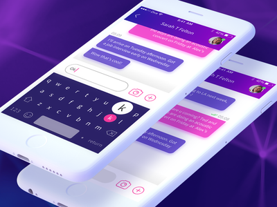 Chatting Tool sketch conversation texting message chat mobile keyboard flat app ios design ui
