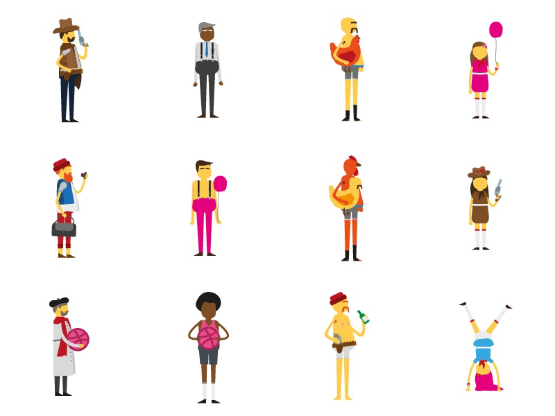 Free Vector Characters by Andrew Bro on Dribbble