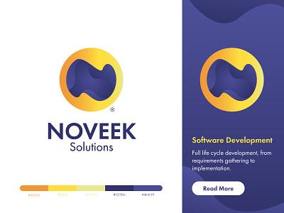 Noveek Logo branding software development gradient yelow logo