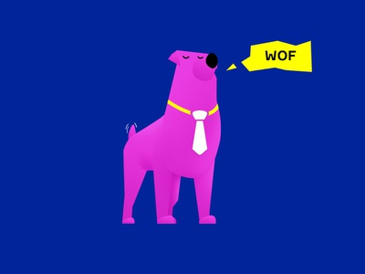 Good Dog animal pet gradient dog character illustration 2d