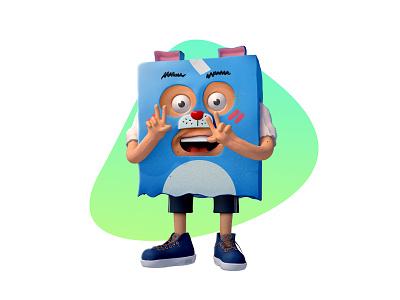 Imaginary Friend box friend cartoon 3d character