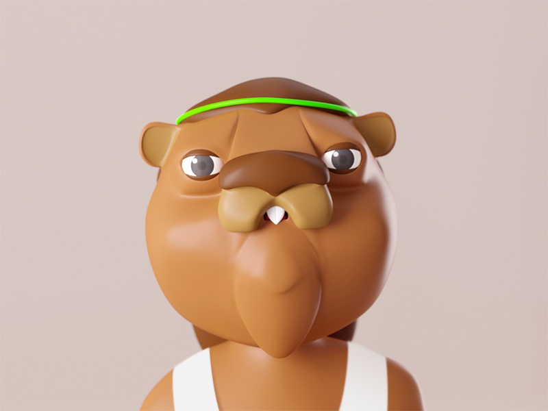 Party Beaver party c4d beaver animal dance animation design character 3d