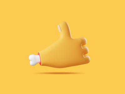 Like Dribbble emoji like dribbble yellow character 3d