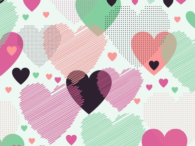 Love pattern (free vector) day pattern creative invitation trendy illustration background love vector heart