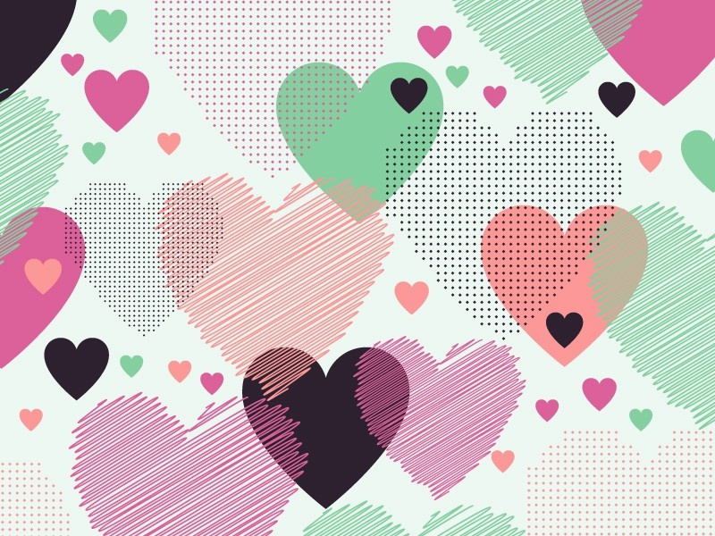 Love pattern (free vector) day pattern creative invitation trendy illustration background love vector heart