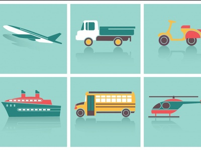 Transportation icons set travel traffic pattern bicycle creative direction helicopter motorcycle element wallpaper road