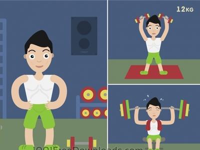Sportsmen vector character illustration