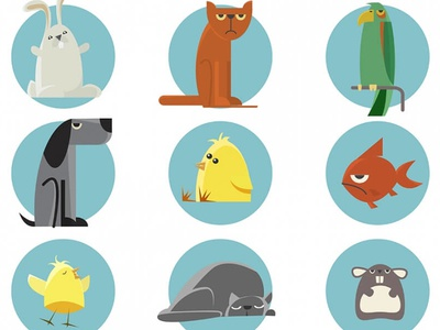Cute animal illustrations Vector | Free Download