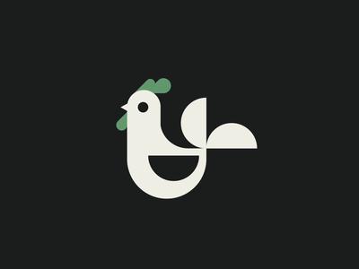 Hot (Dead) Chicken animal geometric flat icon illustration animation chicken