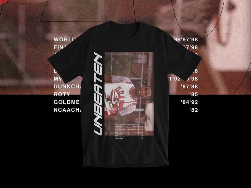 Unbeaten Michael Jordan art typography type logo photography icon design black goat mj basketball branding apparel shirt
