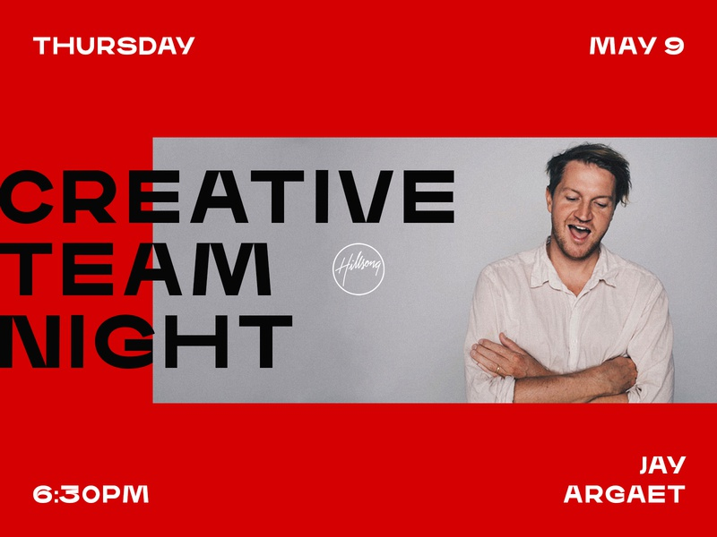 Creative Team Night flat creative team night creative clean typography type minimal logo layout design branding red