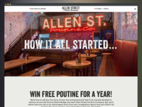 Allen Street Poutine Company Website