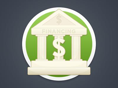 Funding Icon flat icon flat design rebrand bank icon