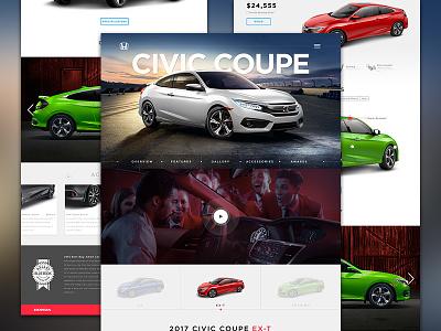 Honda Site Redesign web design graphic design freelance honda ux ui