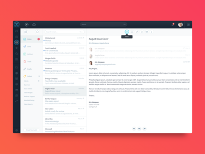 Custom Software UI : Email App email sketch dashboard web design ux ui software
