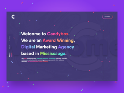 Agency Rebrand Concept agency colorful gradients candy ux ui rebrand graphic design web design