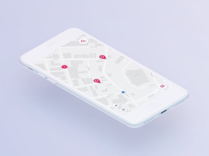 Progressive Web (m)App web design iphone ui map app